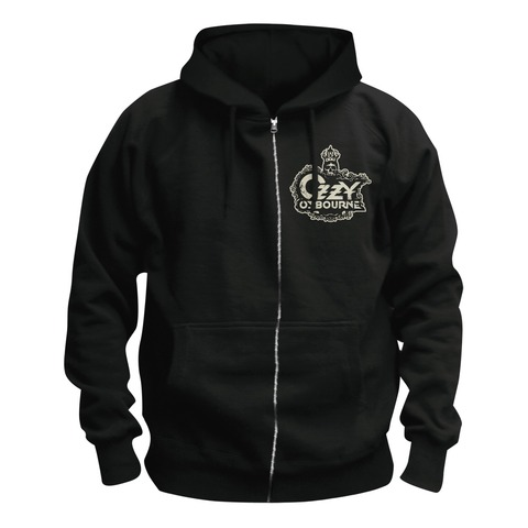 Crowned Skull Logo von Ozzy Osbourne - Kapuzenjacke jetzt im Black Sabbath Shop